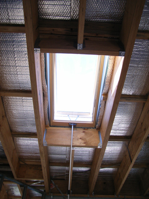 Fakro skylight from the inside