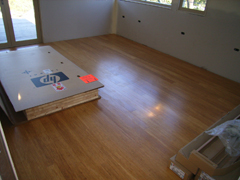Completed office compressed bamboo floor