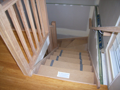 Stair handrails and trim