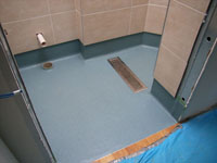 Altro Safety Flooring installed in the guest ensuite