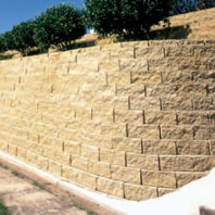 Boral Keystone retaining wall in place
