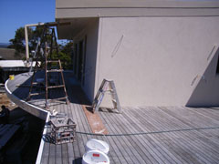 Deck-Max deck ready for sanding