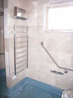Bradley Australia grab rails and Skope heated towel rails